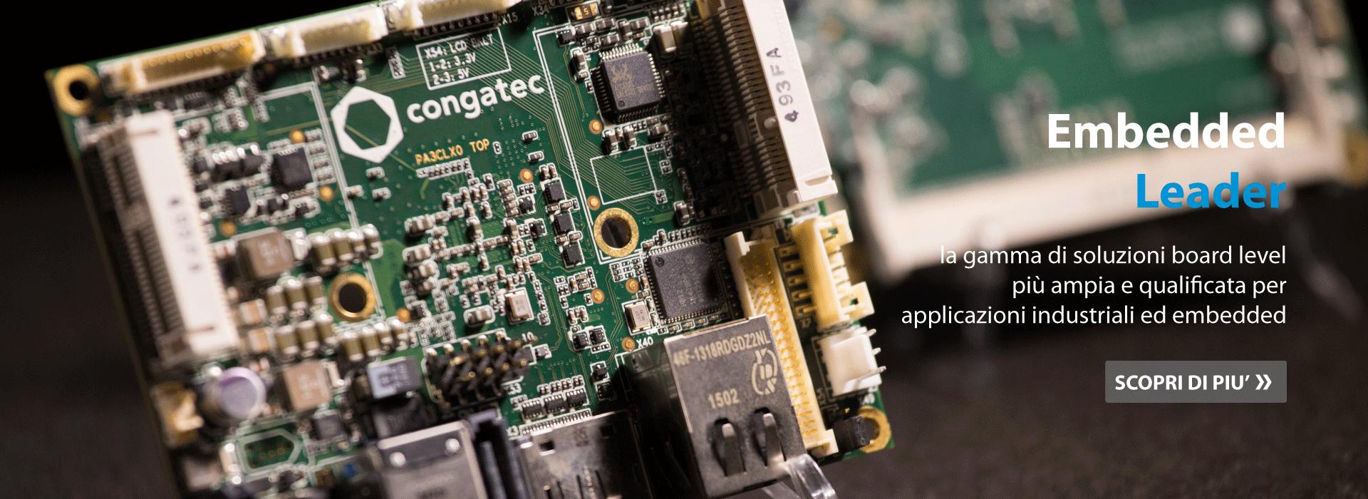 Schede e moduli per applicazioni industriali ed embedded